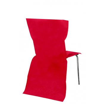 6 Housses de chaise jetable Rouge