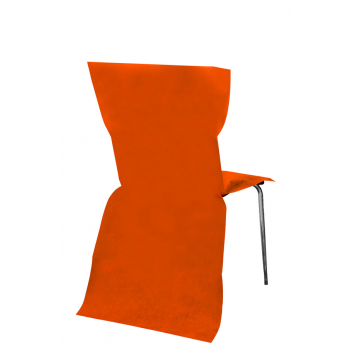 Housse de chaise jetable Orange (x6)